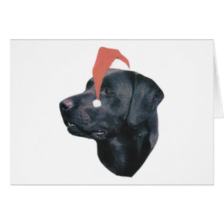 Labrador Retriever Santa Hat Card
