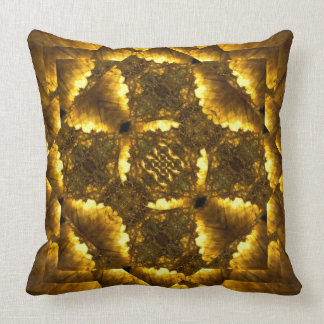 Labradorite gold gemstone fractal art pillow