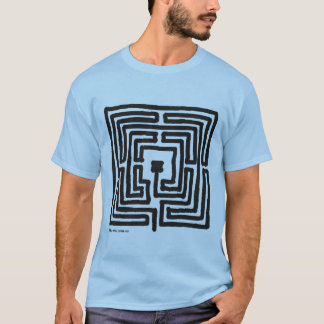 labyrinth medieval square 7 T-Shirt