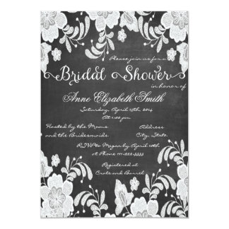 Lace and chalkboard Bridal Shower Invitation III
