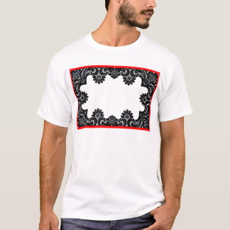 Lace Black & White Red Boarder The MUSEUM Zazzle G T-Shirt