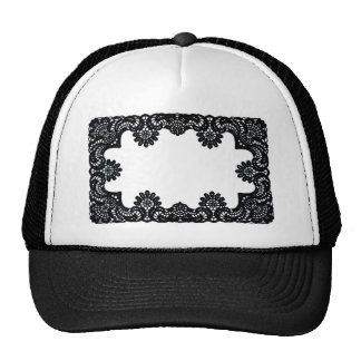Lace Black & White The MUSEUM Zazzle Gifts Cap