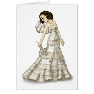 Lace Bride Card