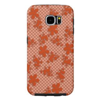 Lace dark Copper Floral Samsung Galaxy S6, Tough Samsung Galaxy S6 Cases