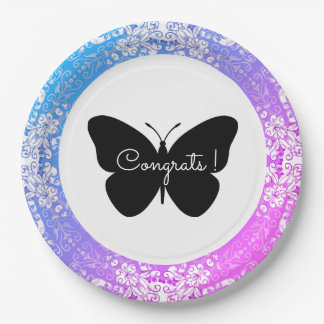 Lace-Fresco_Pink-Blue_ Template-Butterfly_Congrats Paper Plate