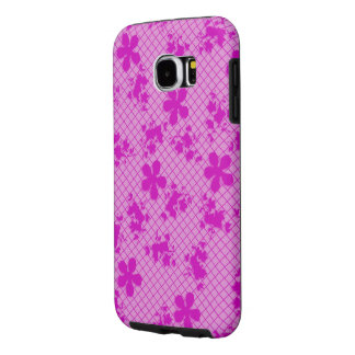 Lace Hot Pink Floral Samsung Galaxy S6, Tough