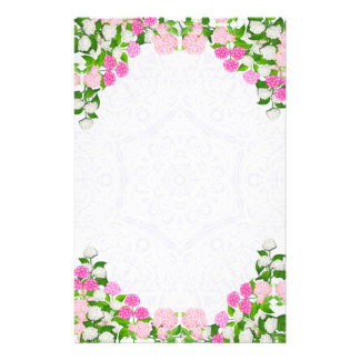 Lace Hydrangea Flowers Stationery
