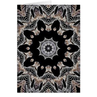 Lace Kaleidocope Flower Card
