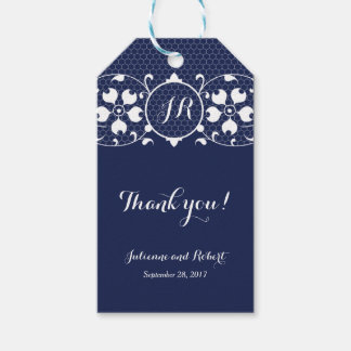 Lace Love | Monogram Wedding Favour Gift Tags