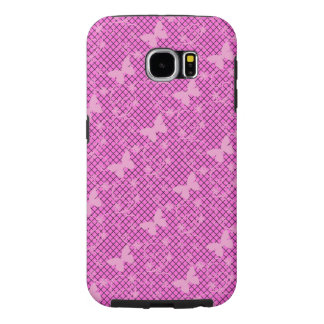 Lace Pink Butterflies Samsung Galaxy 6/6+ Case