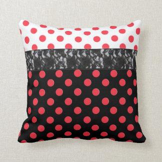 Lace Polka Dot Throw Pillow