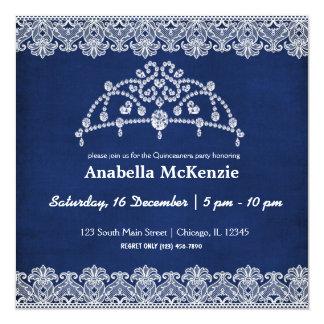 Lace Quinceanera 13 Cm X 13 Cm Square Invitation Card