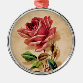 Lace Rose Christmas Ornament