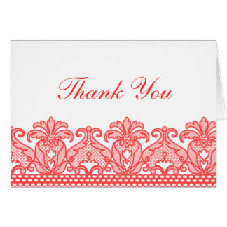 Lace Thank You (Red) Card