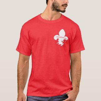 LaCoastPost Shirt - White on Red
