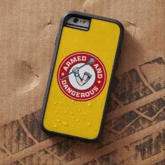 Lacrosse Armed and Dangerous iPhone 6 case