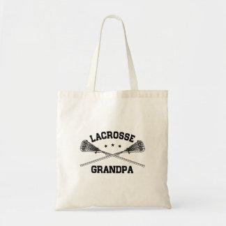 Lacrosse Grandpa Tote Bag