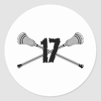 Lacrosse Number 17 Sticker