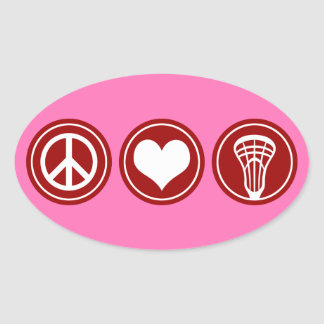 Lacrosse Sticker - Peace Love and Lacrosse - pink
