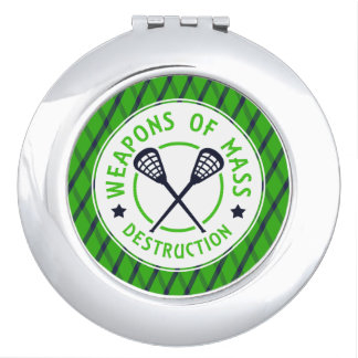 Lacrosse Weapons of Destruction Compact Vanity Mirrors