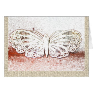 Lacy Butterfly Note Card