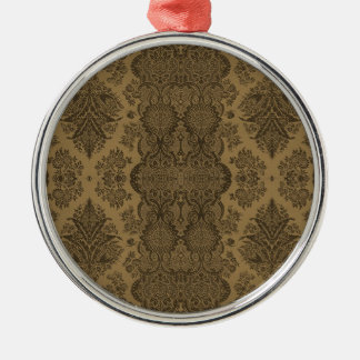 Lacy Vintage Floral in Brown Christmas Ornament