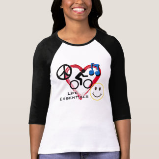 "Ladies' 3/4 T-shirt, ""Life Essentials"" Shirts"