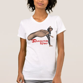 Ladies 3D Dangerous Fighter Petite T-Shirt
