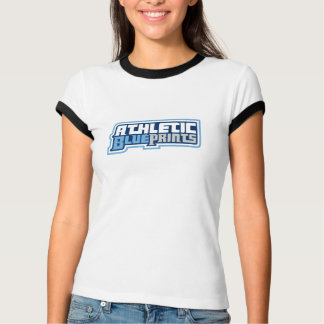 Ladies Athletic Blueprints Ringer Tee