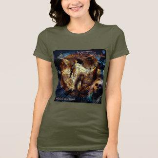 Ladies Believe in Angels T-Shirt (Green)