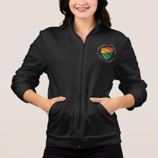 Ladies Black Fleece Logo Jacket