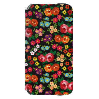 Ladies Floral Flowers - Stylish and Colorful Incipio Watson™ iPhone 6 Wallet Case
