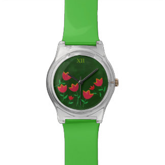 ladies' flower garden wrist watch