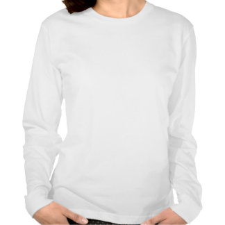 LADIES MERRY XMAS AND HAPPY NEW YEAR LS fitted Tshirt
