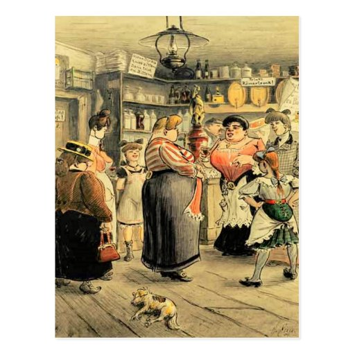 Ladies Night at the Pub Post Card