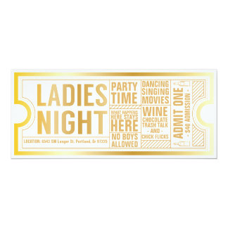 Ladies Night Invitation-Customize it! Card
