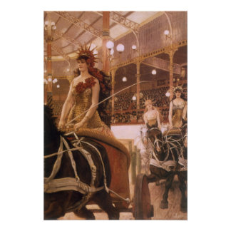 Ladies of the Cars (Circus) by Tissot, Vintage Art Poster