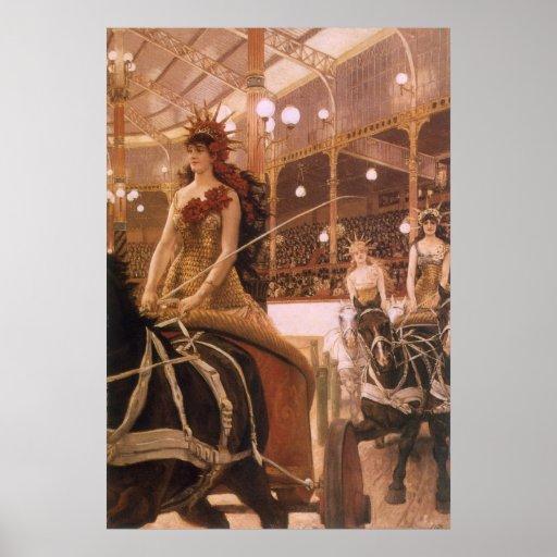 Ladies of the Cars (Circus) by Tissot, Vintage Art Print