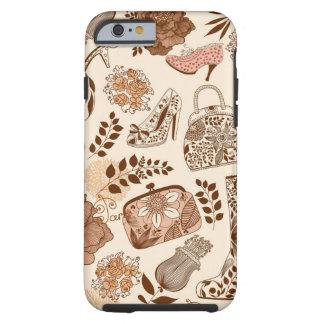 Ladies Retro Assorted Fashion Items Tough iPhone 6 Case