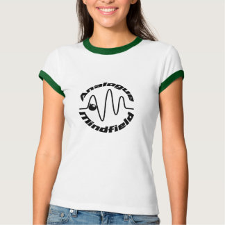 Ladies Ringer with Analogue Mindfield Logo T Shirt