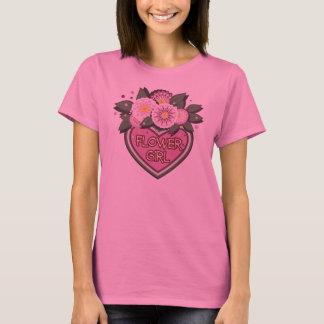 Ladies shirt with flower girl design