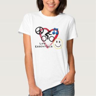 """Ladies' T-shirt, """"Life Essentials"""" Tshirts"""