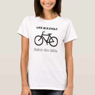 "Ladies' T-shirt, ""Life is a Cycle"" T-Shirt"