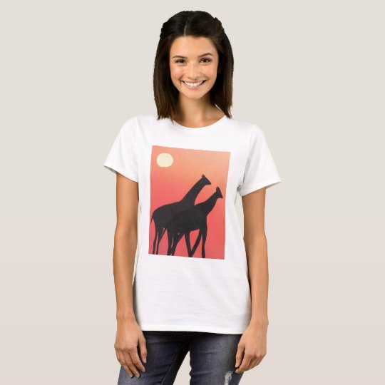 Ladies T-shirt with Giraffe Design