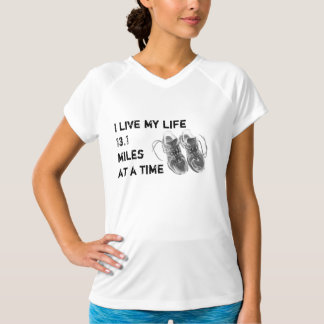 Ladies Wicking no-sleeve - Life 13.1 miles at time T-Shirt