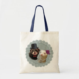 """""""Lady and Gentleman"""" ferrets Budget Tote Bag"""