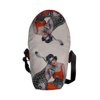 Lady and Leopard Courier Bag