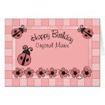 Lady Bug Birthday Greeting Card