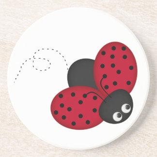 lady bug luck coasters