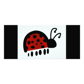 Lady bug personalized rack card